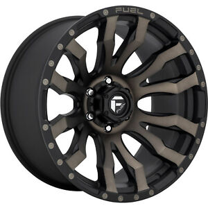 17x9 Black Tint Fuel Blitz D674 Wheels 5x5 1