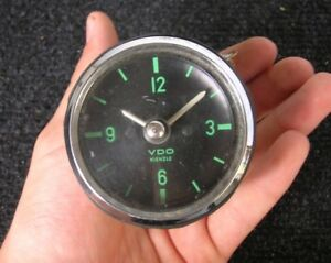 Green Face Vdo Kienzle Clock 1964 Vintage Car Porsche 911