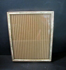Faux Mother Of Pearl Inlay 8 X 10 In Vintage Picture Frame Ornate Gold Metal