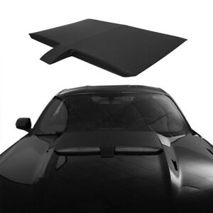 Black Gt Type Engine Hood Scoop Abs Plastic Pp Cover For 2015 2017 Ford Mustang