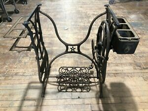 Domestic Cast Iron Sewing Machine Treadle Table Base Vintage Star Stand Can Ship