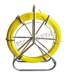 130m 426 5ft Fish Tape Fiberglass Wire Cable Running Rod Walker Duct Puller 6mm
