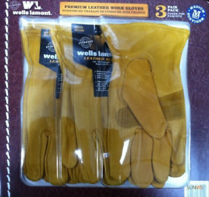 Well Lamont Leather Work Gloves Large 3 Count