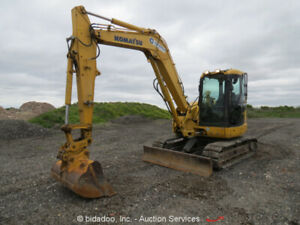 2012 Komatsu Pc88mr 8 Mini Excavator Rubber Street Pads Cab Backhoe Bidadoo