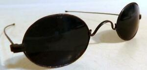 Antique Straight Stem Tinted Eyeglasses Civil War Era Mid 1800s