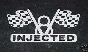 V8 Fuel Injection Engine Decal For Hilborn Or Kinsler Injected Car