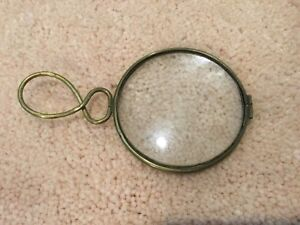 Victorian Brass Magnifying Glass