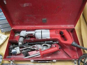 Milwaukee 1107 Angle Drill In Case With Extras