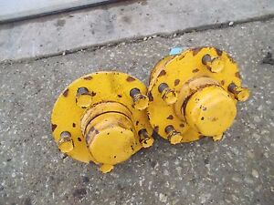 Massey Harris 22 Tractor Mh Front Hubs Caps To Hold Rims To Spindles Studs