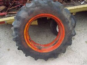 Case Vai Vac Tractor 11 2 x24 97 Tread Firestne Tire Single Band Mount Rim
