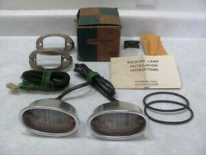 1957 57 Chevy Bel Air 210 150 Nomad Nos Back Up Lamp Light Kit 987538 Complete