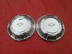 Vintage 1969 Chevy Impala Belair Biscayne Dog Dish Poverty Hubcaps Wheel Covers