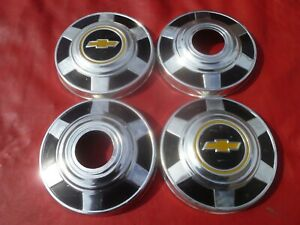 Vintage 1973 Chevy 4x4 Truck 12 Dog Dish Hubcaps Wheel Covers