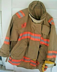 Morning Pride Fire Fighter Bunker Gear Turnout Coat Jacket L See Photos