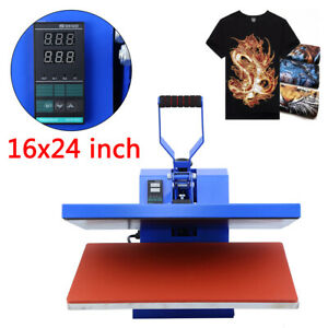 16x24 Heat Press Machine Clamshell Sublimation Transfer T shirt Print Lcd Timer