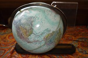 Replogle Globe World Ocean Earth Planet Orbit Dual Axis Revolving Stand Usa Vtg