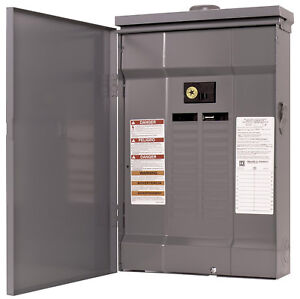 Square D Qo124m125rb Load Center 120 240v 24 Spaces 125a Main Breaker Included