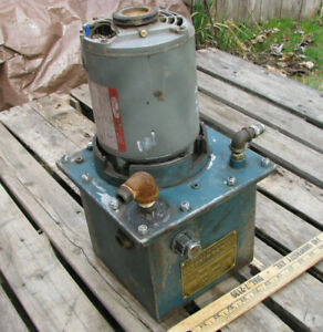 Pronto Power Hydraulic Power Pack Unit 1 5gpm 1 3hp 115vac Portable Vintage
