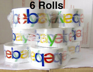 6 Rolls Of Official Ebay Branded Tape Packing Shipping Supplies 75 X 2 2 3 Day