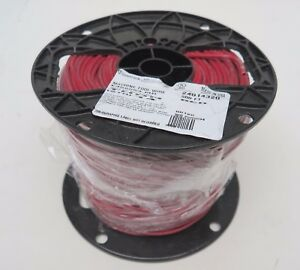New Roll spool Red 14 Awg 14awg Str 500 600v Copper thnn Wire Stranded Cable