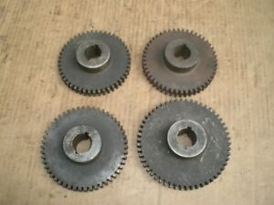 4 Lathe Change Gears For Large Lathe 1 1 8 Id 5 Diameter 47 54 Tooth