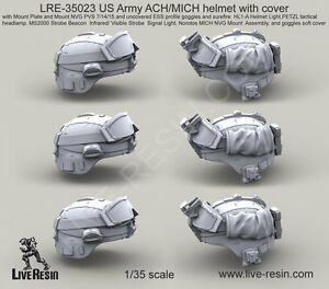 Live Resin 35023 135 US Army ACHMICH Helmet with Cover (5)