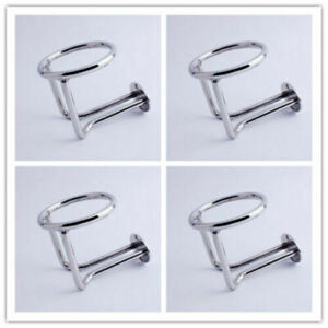 4x Ring Water Drink Bottle Cup Holder For Boat Car Truck Marine Stainless Steel
