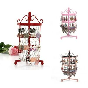 3pcs Set Metal Business Rotating Metal Jewelry Display Rack Earrings Storage