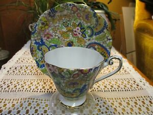 Vintage Royal Standard Bone China Cup And Saucer Paisley Pattern