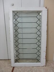 Antique Leaded Glass Window Pane Architectural Salvage Reclaimed Perfect Size