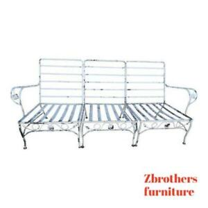 3pc Vintage Outdoor Patio Porch Woodard Love Seat Settee Lounge