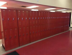 Lot Of 744 Metal Lockers Cabinets For School Gym Storage Employee Changing Room