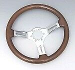 Corvette Wheel Steering Mahogany 14 With Chrome Plated Spokes For 1967 82 E11