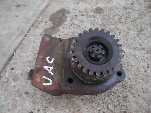 Case Vac Tractor Original Good Working Hydraulic Pump Assembly