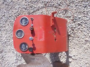 Case Vac Tractor Dash Panel Battery Platform W Gauges Wires