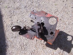 Case Vac Running Tractor Gas Engine Motor Cylinder Block Oil Pump Assembly