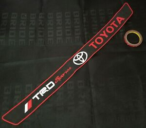 Trd Toyota Rubber Car Rear Bumper Protector Trunk Sill Guard Scratch Pad Black