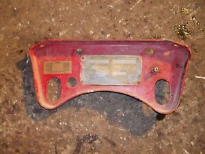 Farmall F12 Tractor Original Ih Gas Tank Mounting Bracket Serial Tag