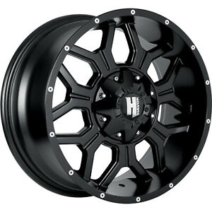 17x9 Black Havok H106 Wheels 6x135 6x5 5 12 Fits Chevrolet C2500 6 Lug Only