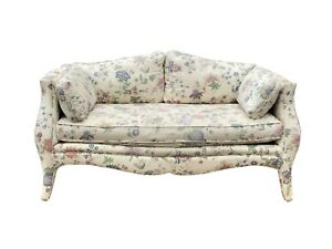 Curvy French Style Loveseat Settee Sofa Couch By Henredon Furniture Sofa 57 W