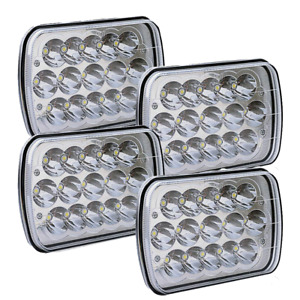 4pcs 45w Led Headlight Assembly Sealed Beam Hid Bulb Rectangle 5x7 7x6 Headlamp