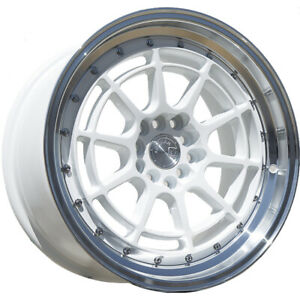 16x8 White Aodhan Ah04 Wheels 4x100 4x4 5 15 Fits Ford Mustang 4 Lug Only