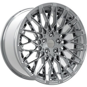 22x10 5 Chrome Rosso Skism Wheels 5x120 40 Fits Pontiac Gto G8
