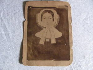 Aafa 1700 S Folk Art Primitive Girl Painting First Type Photographed Early 1800s