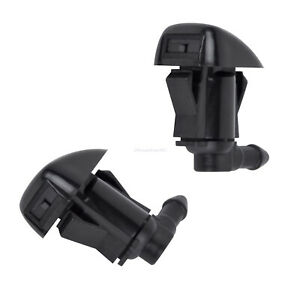 2pcs Windshield Washer Water Nozzle Fit For 2008 2012 Chevrolet Malibu New