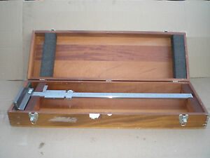 Brown And Sharpe No 576 Vernier Height Gage 27 With Wooden Case