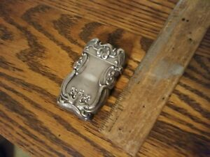 Ornate Victorian Vesta Match Safe Sterling B Silver