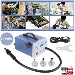 861d quick Soldering 861d 1000w Digital Hot Air Gun Rework Station Machine Us
