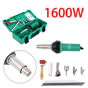 1600w Hot Air Torch Plastic Welding Gun Welder Pistol Tool Kit W Abs Hard Case