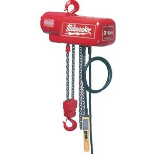 Milwaukee 9560 1 2 Ton Electric Chain Hoist 10 Ft